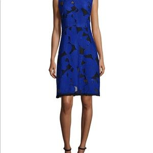 NWT Elie Tahari Ophelia Floral Fil Coupe Dress
